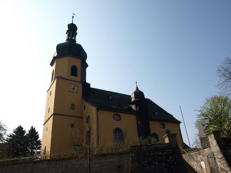 Vorderansicht der St.-Aegidien-Kirche Regnitzlosau