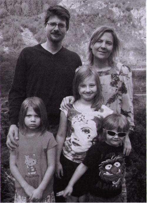 Pfarrer Winkler mit Familie